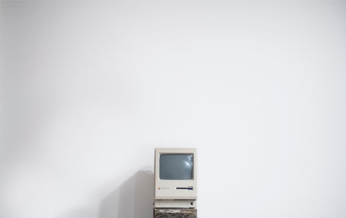 Old computer, like the outdated computer systems targeted in the WannaCry ransomware attack
