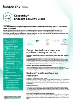 KASPERSKY ENDPOINT SECURITY | CLOUD DATA SHEET